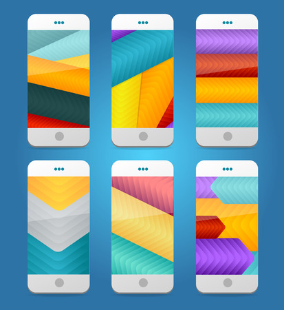 Vector Mobile Phones Arrows Backgrounds. Background collection Vector