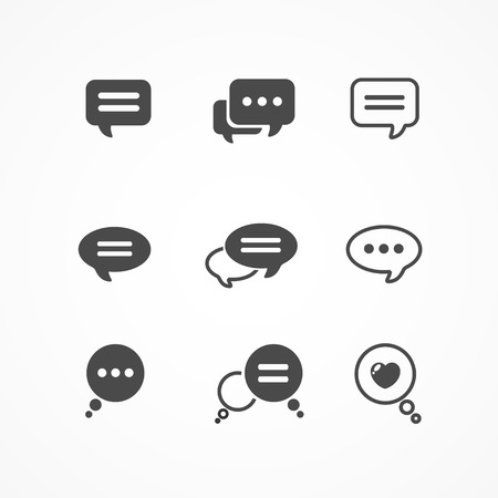 talk show: Speech bubble icon set on white background isolated