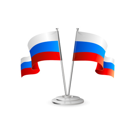 flagpole: Russian vector table flag isolated on white Illustration