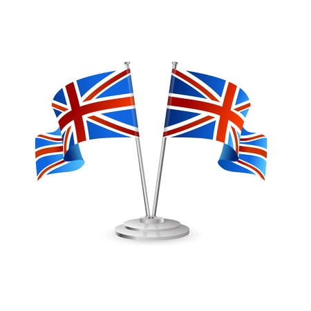 flagpole: UK vector table flag isolated on white Illustration