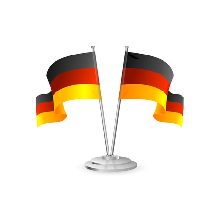 flagpole: Germany vector table flag isolated on white Illustration