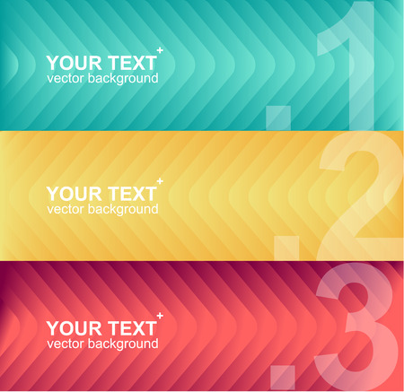 text boxes: Vector colorful text boxes, infographics options banner 1 2 3 concept