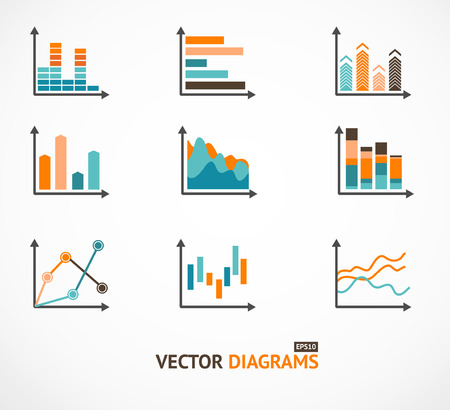 tendency: Infographic set elements, Graph and Charts, Diagrams. Illustration