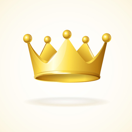 royal background: Gold royal crown isolated on a white background