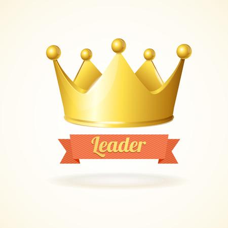 corona reina: Corona del rey del oro aislado en un fondo blanco Vectores