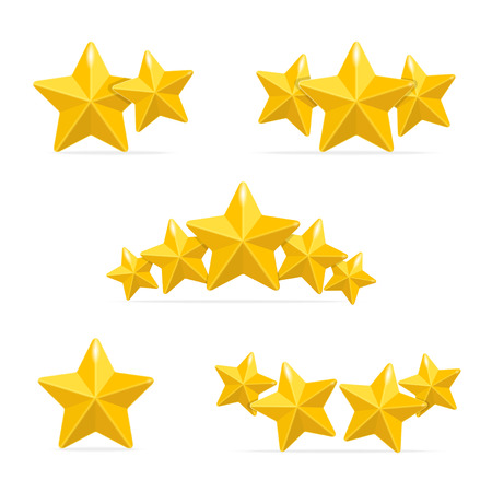 Vector rating hotels stars concept on black background