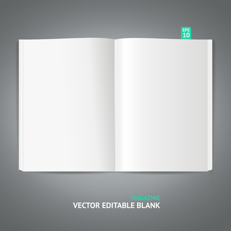 read magazine: Blank magazine template isolated on gray background Illustration