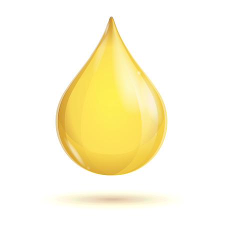 Transparent oil drop isolated on white background