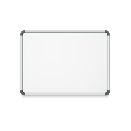 school frame: Vector illustration. Empty whiteboard for business presentations or teaching