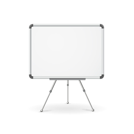 Vector illustration. Empty whiteboard for business presentation, lecture, speech Illustration
