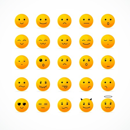iconography: Vector illustration smile icon set. Editable For Your Design.