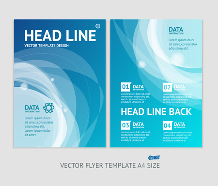 Vector illustratie abstract geometrische brochure flyer ontwerp sjablonen in A4-formaat Stock Illustratie