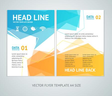 talk balloon: Vector illustration abstract geometric bubble speech brochure flyer design templates in A4 size
