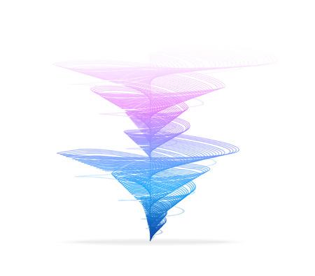 tornado: Vector illustration Tornado, vortex icon. Hurricane on white background