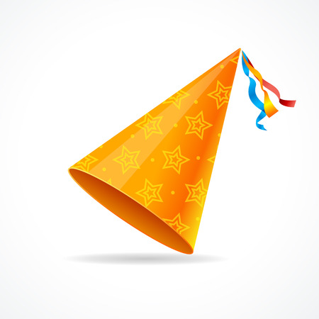 Vector party hat isolated on a white background.