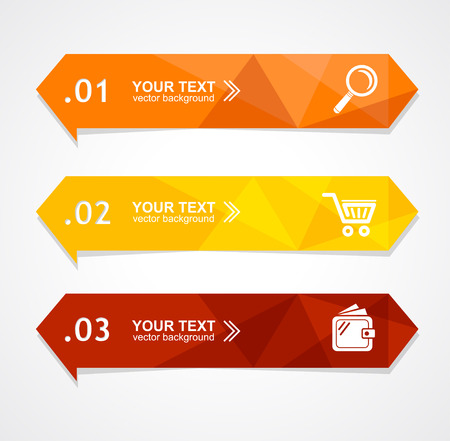 Vector illustration paper triangle option banner can be used for web design, brochures