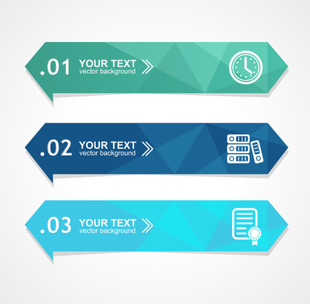 business banner: Vector illustration paper triangle option banner for business, finance