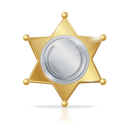 sheriff badge: Vector illustration sheriff badge star of the two metals