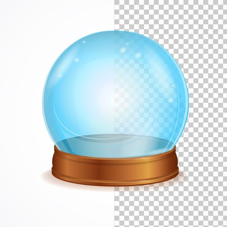 witchcraft: Vector Illustration empty blue crystal ball isolated on a white background. The symbol of witchcraft