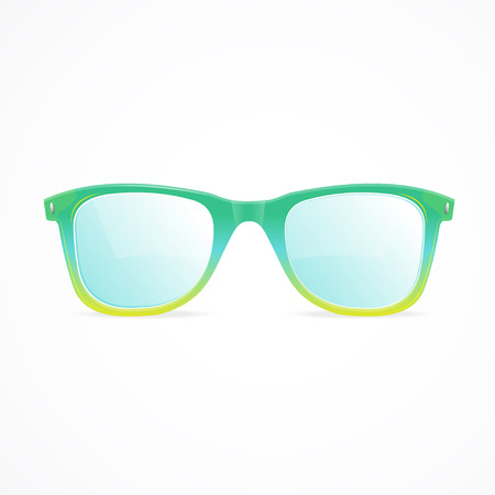 necessary: Vector Illustration glasses isolated on a white background. A necessary accessory for summer Illustration