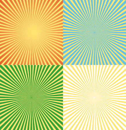 Vector Illustration vintage comics background set ray light. Can be used for advertising