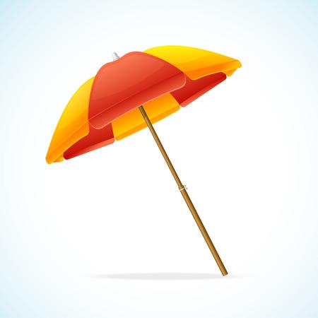 jaune rouge: Vector illustration Parasol Rouge Jaune isol� sur un fond blanc.