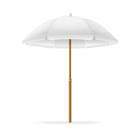 Vector illustration Beach Umbrella Template. Can be used for your design