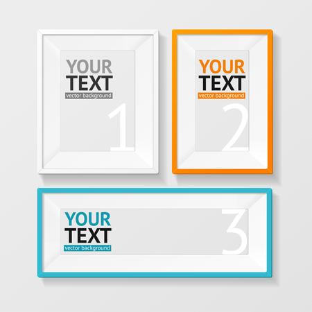 colorful frame: Vector illustration colorful picture frame option banner for business, finance. Illustration