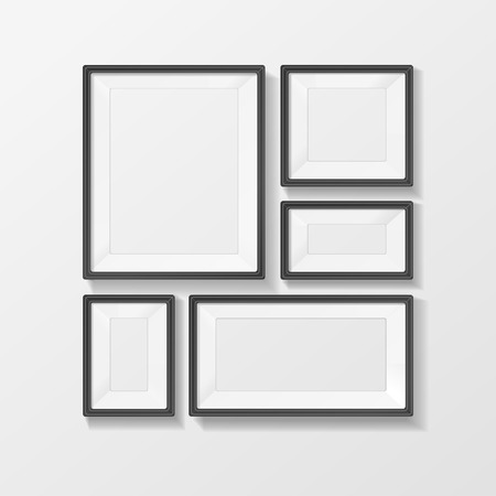 Vector illustration picture frame vector set, with space for text or ad.