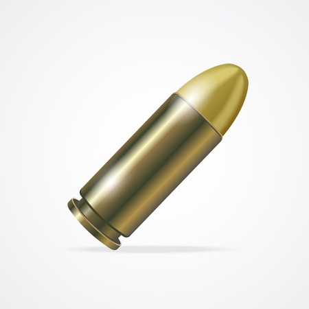 Vector illustration Pistol Bullet isolated on a white background.