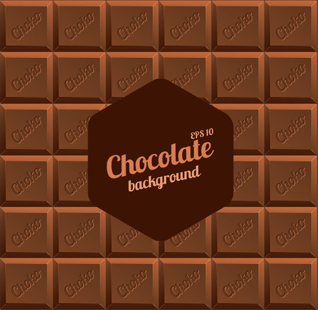 fondo chocolate: Ilustraci�n del vector del fondo del chocolate con leche con espacio para el texto