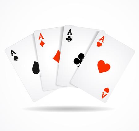 Vector illustration Playing Poker Cards. Winning poker hand
