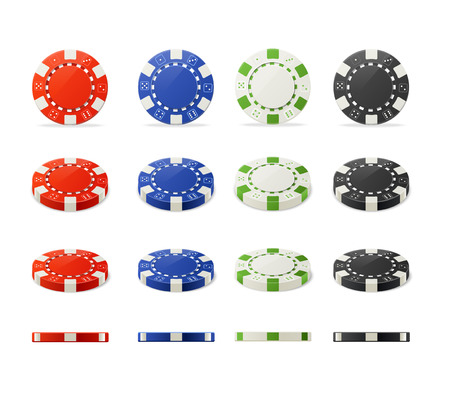 Vector illustration casino poker chips set for your designs