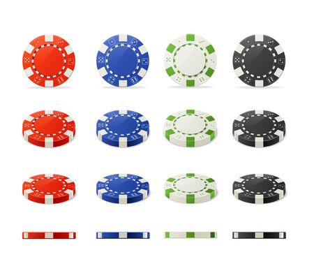 Vector illustration casino poker chips set for your designs