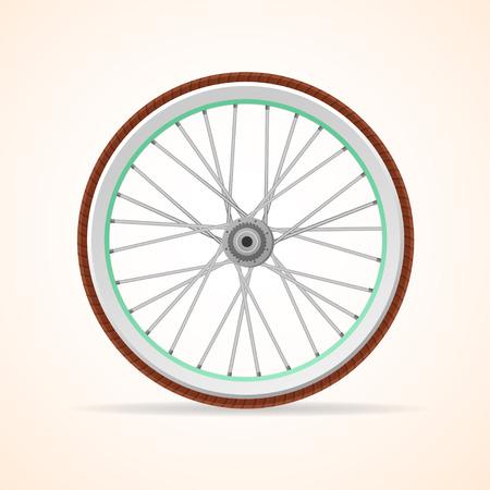 velocipede: Vector illustration Bicycle vintage wheel isolated on white background. Illustration