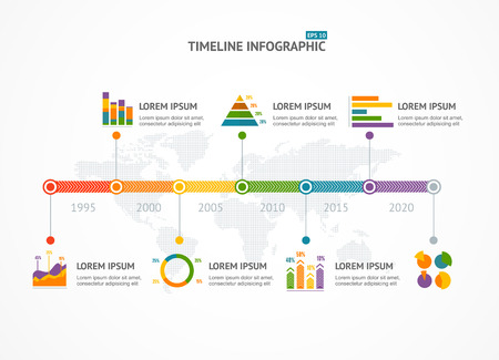 Timeline Infographic, ranking and statistics, modern style. Vector illustration