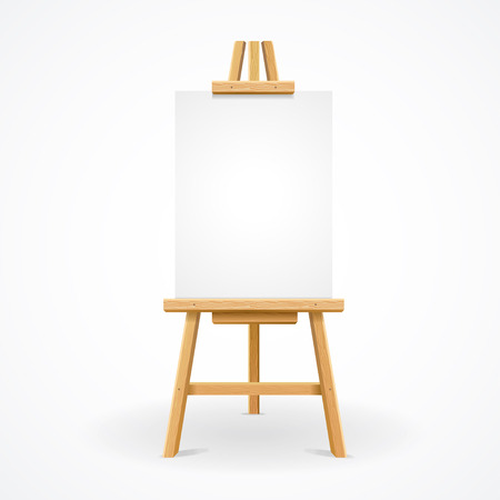 Wooden easel empty ready for advertising and presentations