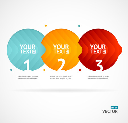 red banner: Option banner infographic concept empty. Vector illustration