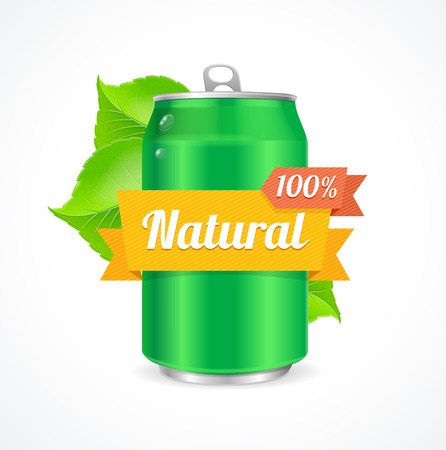 alum�nio: Aluminum Can Natural Concept. Concern about the Environment. Vector illustration