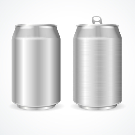 alum�nio: Aluminum Cans Blank. Ready For Your Design. Vector illustration