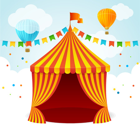 cupola: A Circus Card for Your Advertising. Vector illustration