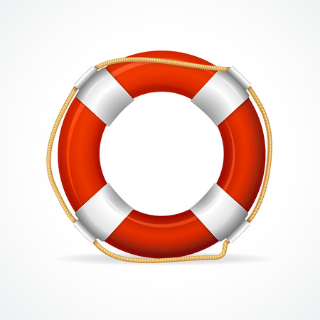 Life Buoy Ring Red. The symbol of the life-saving. Vector illustration