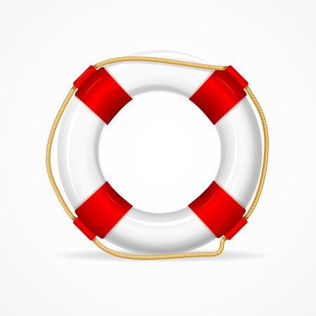 ringe: Life Buoy Ring auf weißem Hintergrund. Erforderlich Attribut Retters. Vektor-Illustration