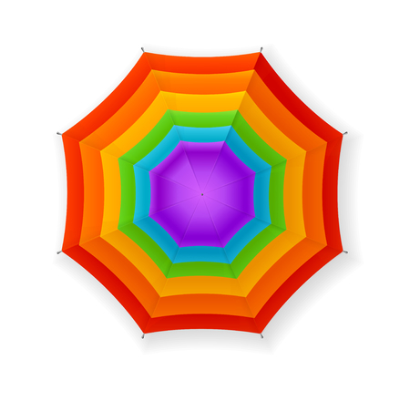 rainbow umbrella: Autumn Umbrella Rainbow. Bright Colors. Vector illustration Illustration