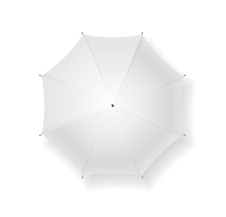 overhead view: Umbrella blank. Can Be Used for Your Design. Vector illustration Illustration