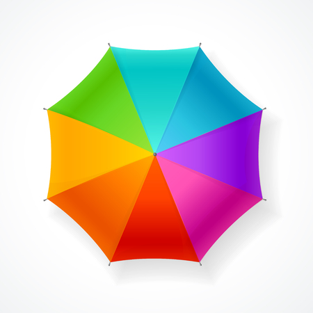 colors background: Umbrella Rainbow Isolated on White Background. Cheerful Mood.  Vector illustration
