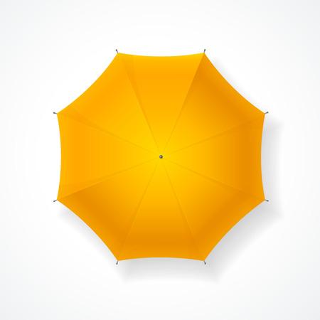yellow umbrella: Yellow Umbrella. A luxurious Accessory for the Autumn Season. Vector illustration