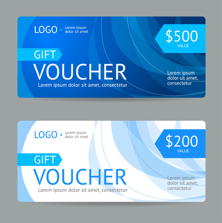Gift Voucher Blank with Modern Pattern. Vector illustration