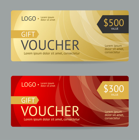 Gift Voucher Template. Luxury Design. Vector illustration