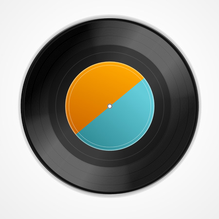 grooves: Vinyl Record. Realistic Retro Design. Vector illustration